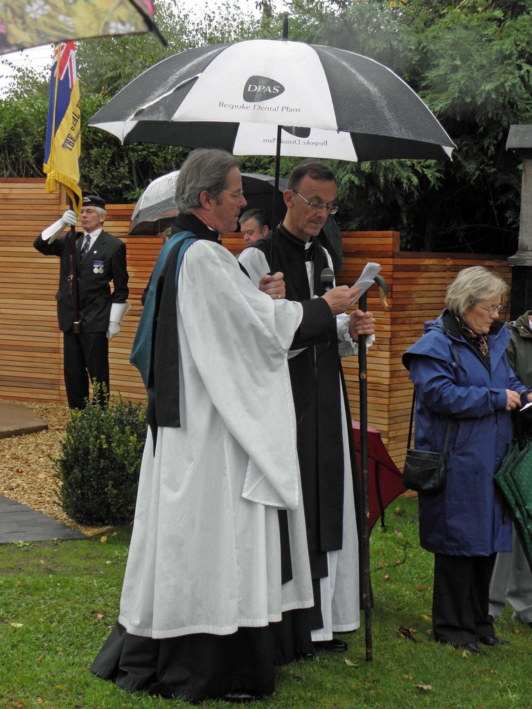Re-dedication, with Bishop of Worcester (to right)
